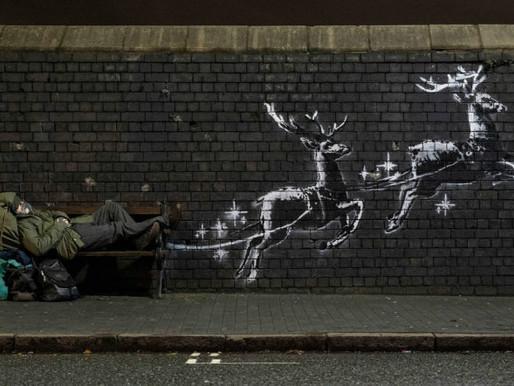 Banksy Christmas Mural in Birmingham