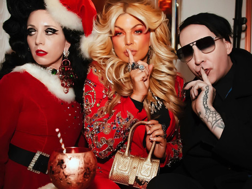 Marilyn Manson and Fergie celebrate at B. Akerlund's Christmas Party