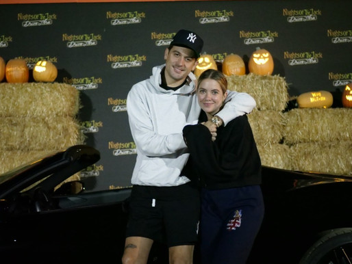 "G-Eazy & Ashley Benson Visit Drive-thru Halloween Attraction ""Nights Of The Jack"" - Calabasas, CA"