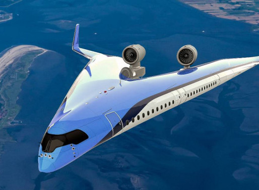 Dutch Airline KLM & TU Delft  'Flying-V' Futuristic Airplane Completes First Scale Model Flight