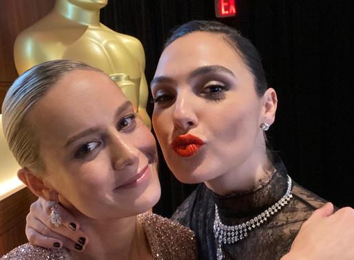 Marvel Comics Brie Larson & DC Comics Gal Gadot Post Dual Instagram Selfies
