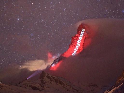 Gerry Hofstetter Lights Up Switzerland's Matterhorn with Inspirational Messages Amid Coronavirus
