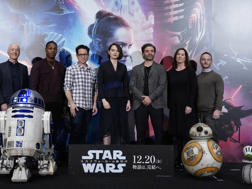 JJ Abrams and Oscar Isaac at the 'Star Wars: The Rise of Skywalker' Press Conference In Tokyo