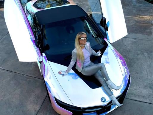Paris Hilton's New Burning Man Inspired 2020 BMW i8 Roadster Called The #Slivmobile
