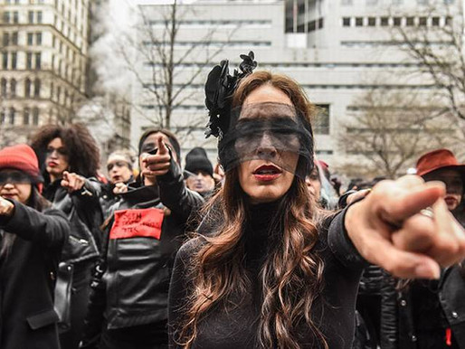 Las Tesis Chilean Feminist Group Flash Mob Protest Outside Harvey Weinstein's Sexual Assault Trial