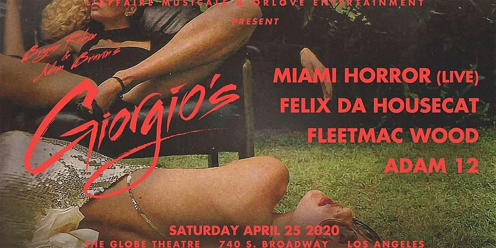Giorgio's ft. Miami Horror, Felix Da Housecat, Fleetmac Wood L'Affaire Musicale & Orlove Entertainment
