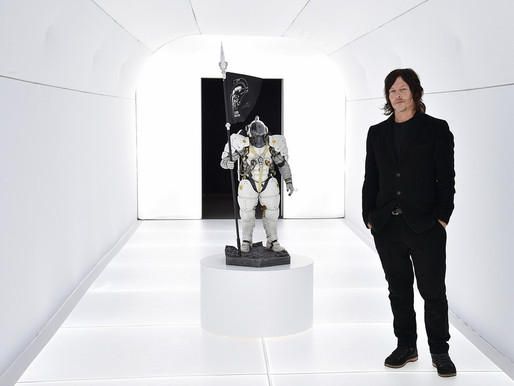 Norman Reedus attends opening night 'Death Stranding' art exhibit by Hideo Kojima
