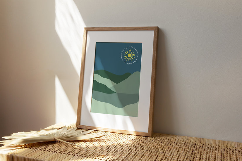To the Mountains A4 Print