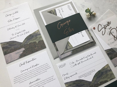Grasmere Wedding Invitation