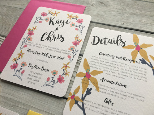 The Flower Candy Wedding Invitation Is Tasty To Look At And Will Fit In So Well With Spring Summer Weddings Bold Bright Quite Simply Gorgeous