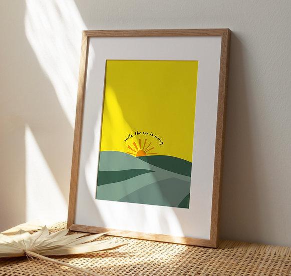 Sun is Rising A4 Print