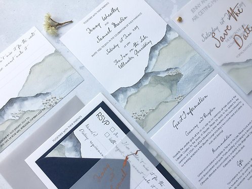 Ullswater Wedding Invitation