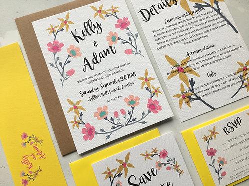 Flower Candy Wedding Invitation