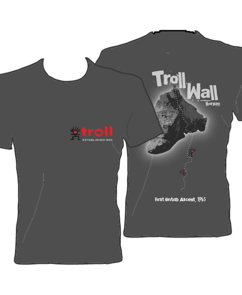 Troll Climbing T-Shirt Design