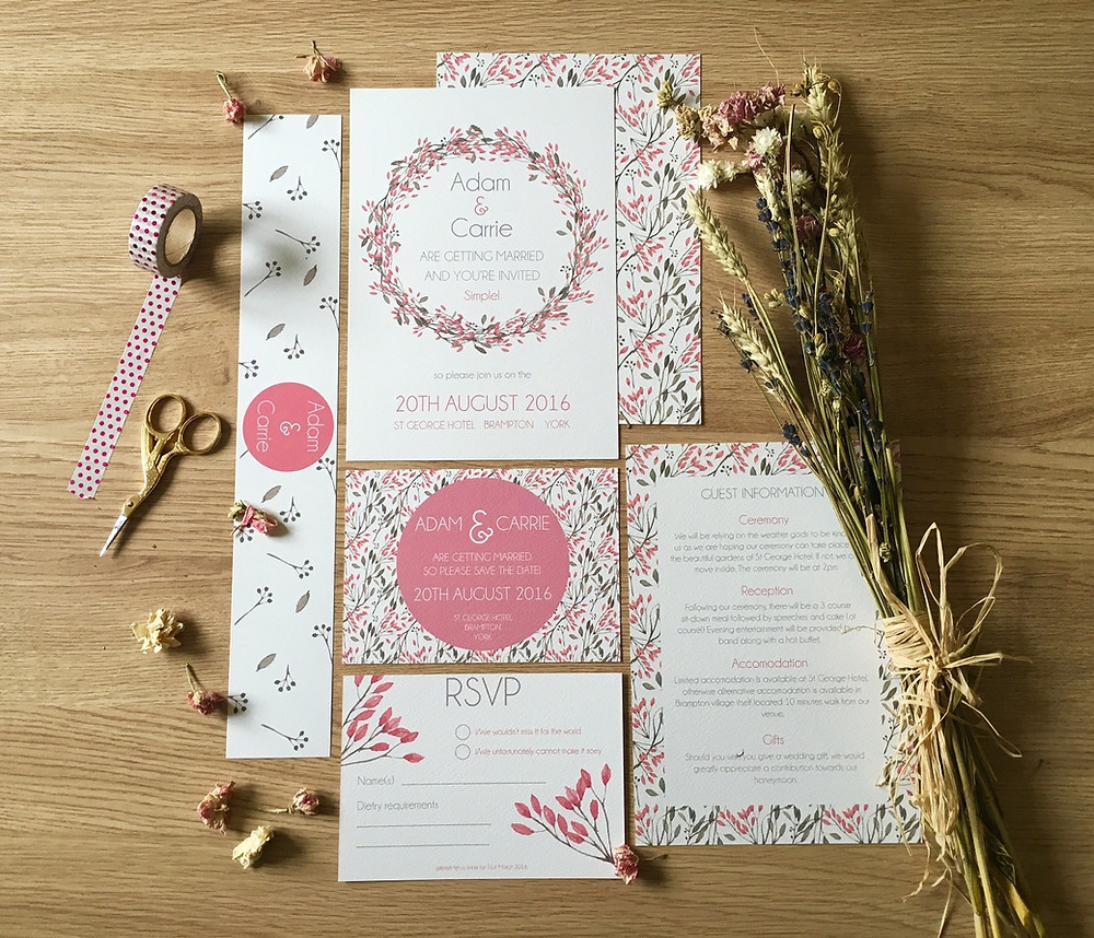 Fleur Invitation