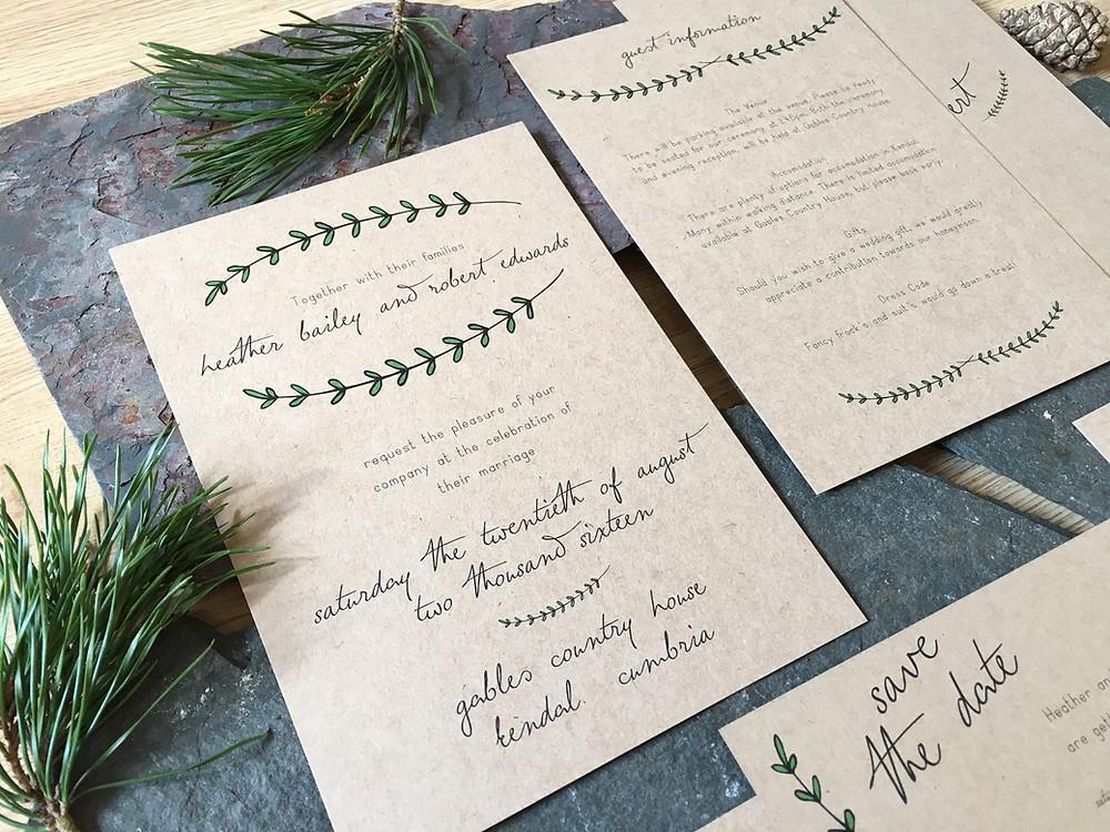 Pine Forest Invitation
