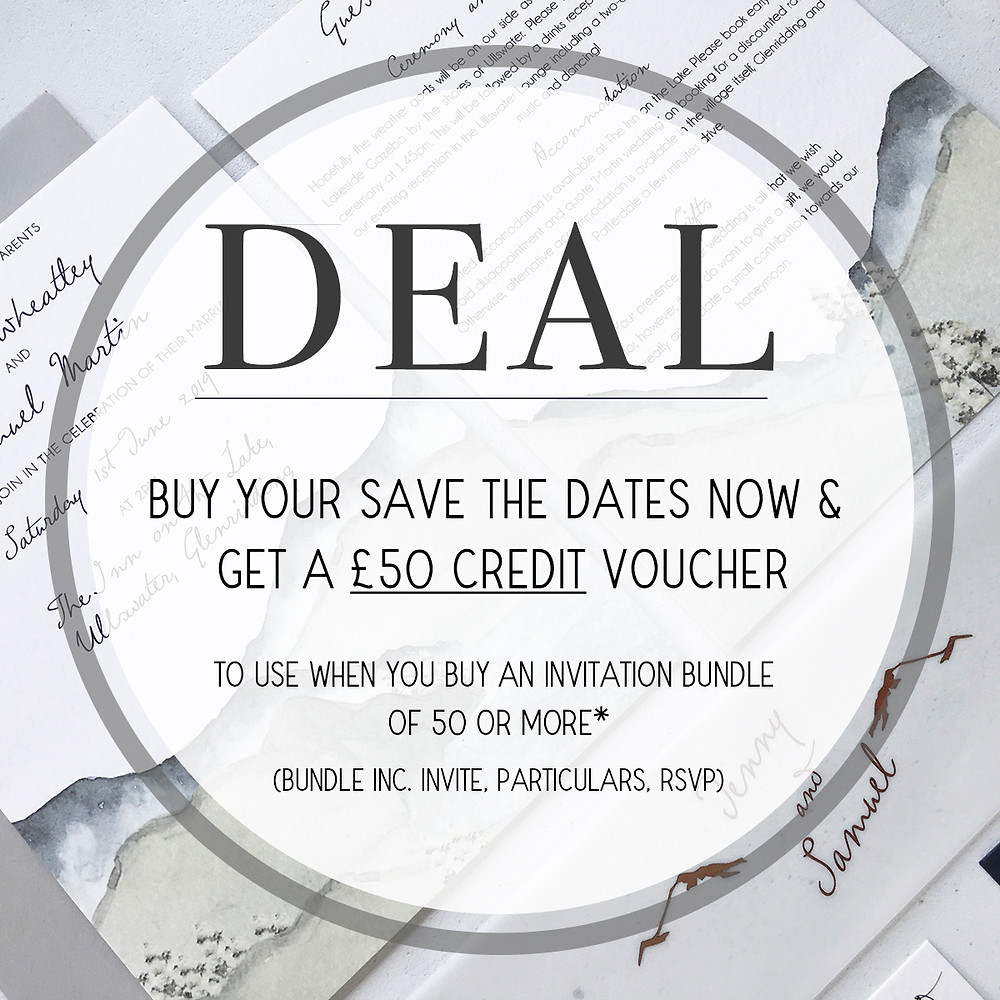Save the Date deal