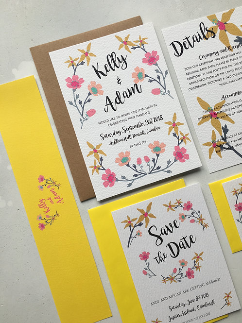 Floral Candy Invitation Bundle