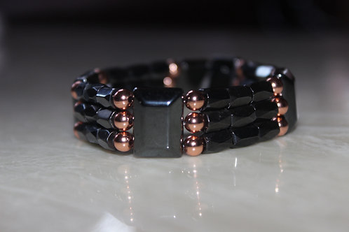 TRIPLE BRACELET W/ COPPER