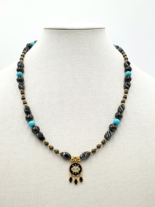 Turquoise Evil Eye Deflector Necklace