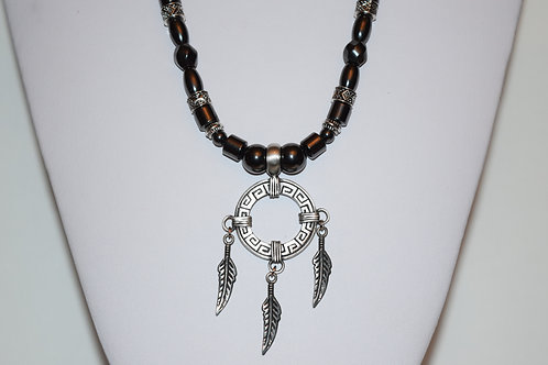 Indigenous Dream Catcher Necklace