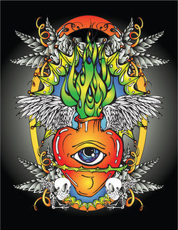 Eye + Heart + Feathers