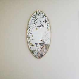 Mirror with pressed wild flowers from Maine soil.jpg