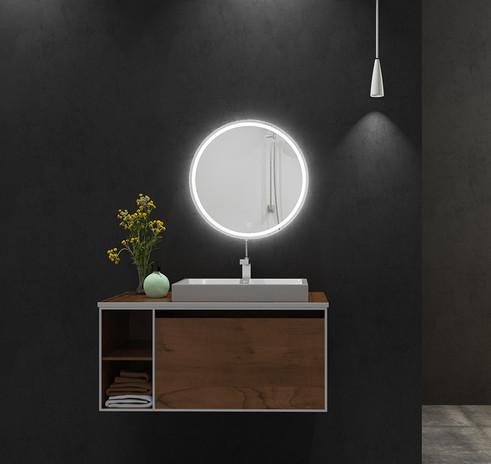 LED Mirror Round 03