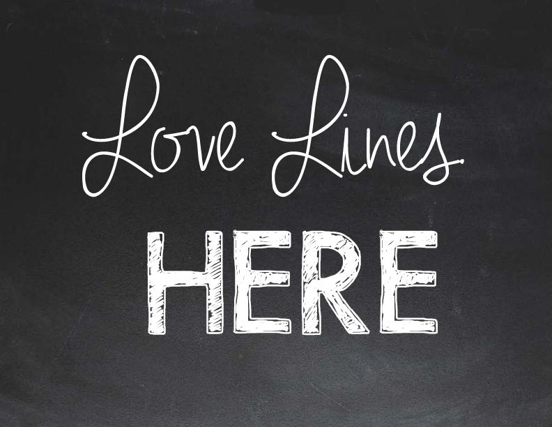 Love Lines Dedication Ads