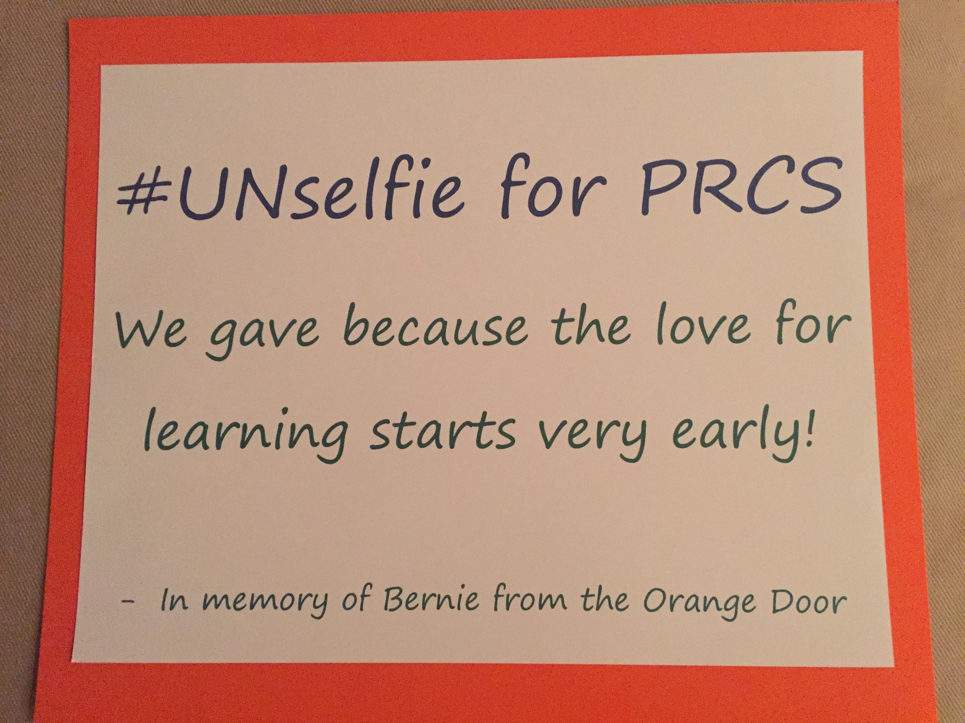 An #UNselfie4PRCS in memoriam,