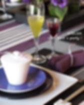 菖蒲色のテーブルコーディネート