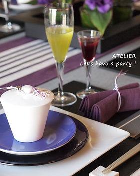 テーブルコーディネート・菖蒲色のおもてなし