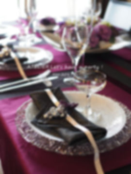 ミッドサマーパーティーのテーブルコーディネート