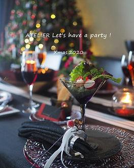 クリスマスのテーブルコーディネート2020