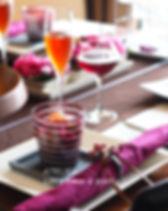 オータムブラウンのテーブルコーディネート