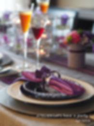 ヴィオリーヌのテーブルコーディネート