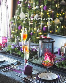 テーブルコーディネート・クリスマス2019クリスマスローズ