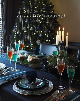 テーブルコーディネート・クリスマス2017ノエル