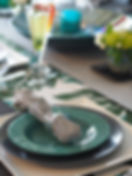ヴィリディアンのテーブルコーディネート