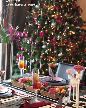 テーブルコーディネート・クリスマス2015