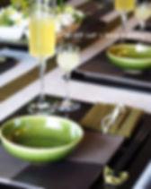 千歳緑のテーブルコーディネート