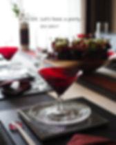 テーブルコーディネート・寒椿のおもてなし