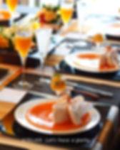 桂花のテーブルコーディネート
