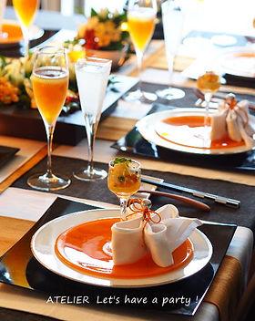テーブルコーディネート・桂花のランチテーブル