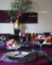 テーブルコーディネート・ワインカラー