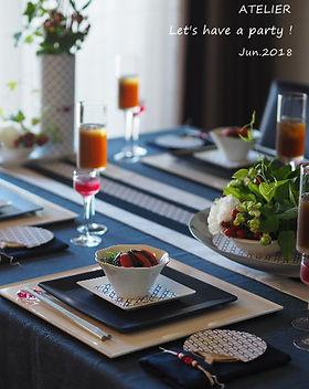 テーブルコーディネート・牽牛花のおもてなし