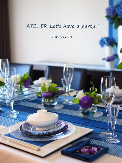 テーブルコーディネート・集真藍あじさいのおもてなし
