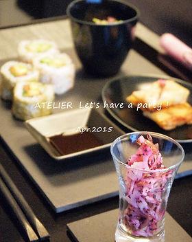 テーブルコーディネート・夜桜のおもてなし