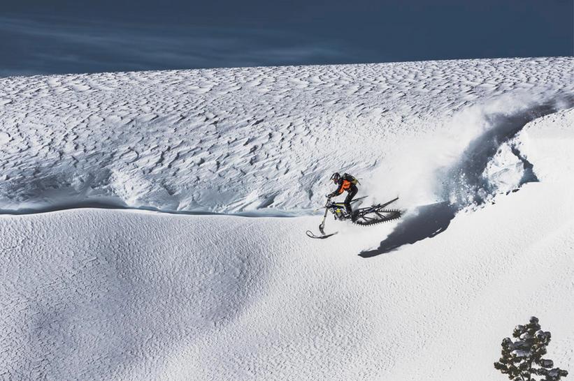 Snowbike Cornice Drop