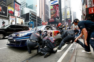 Pit Stop in Times Square? No Problem...
